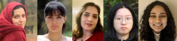 Graduate Student Panel includes: Shahrzad Haji Amin Shirazi, Negin Entezari, Sara Abdali, Sichen Chen, and Samriddhi Singla Samriddhi Singla.