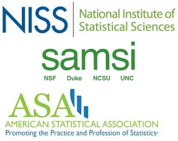 NISS and SAMSI and ASA logos