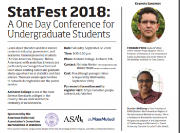 StatFest 2018: A One Day Conference for Undergraduate Students