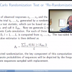 William Rosenberger (George Mason University) reviews randomization techniques during his presentation.