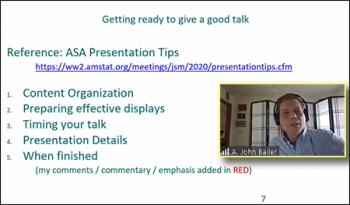 John Bailer (Miami University) shares resources for giving a good talk.