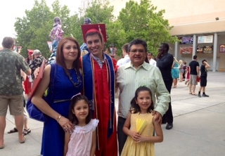Gabriel Huerta with his family