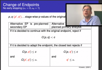 Martin Posch (Medical University of Vienna) discusses endpoints as part of his comments.