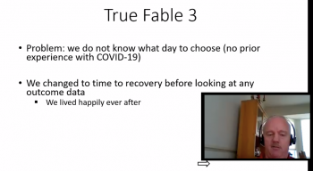 Michael Proschan (NIAID, NIH) uses fables as a means of presenting a number of examples.