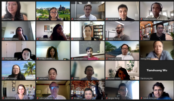 A screenshot of attendees and mentors attending the virtual workshop this year.