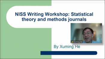 Xumin He (Michigan) present comments as part of the Statistics and Data Science Journals panel.
