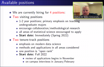 Joshua M. Tebbs (South Carolina) walks through the aspects of multiple job offerings available in his department.