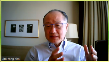 Jim Yong Kim (Former President of the World Bank) shares many stories about fighting against infectious disease around the world.