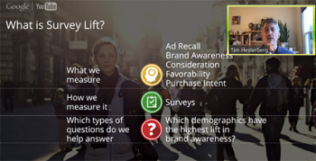 Tim Hesterberg (Google) explains what survey lift is and how Google has implemented this approach.
