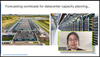 Capacity planning for global support of Google services was the focus of Juan Li's (Google) remarks.