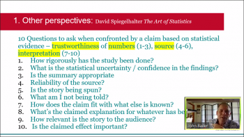 John Bailer (Miami University) shares information about reacting to a statistical claim.