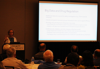 Lisa LaVange speaks to the NISS Affiliate Luncheon on Big Data and Drug Regulation