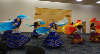 Colorful interlude at AISC 2018, provided by the Daliana Dance Group in Greensboro.