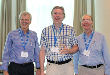 Matthias Schonlau with Jim Rosenberger, Director NISS (left) and David Banks, Director SAMSI (right)