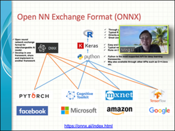 Ming Li (Amazon) reviews the various components of the Open Neural Network Exchange Format (ONNX).