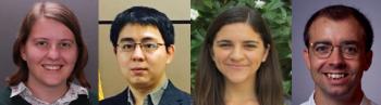 Executive Committee Grad Students: Hannah Waddel (Emory University), Xinjun Wang (University of Pittsburgh), Rebecca Kurtz-Garcia (UCRiverside) and David Kent (Cornell University)