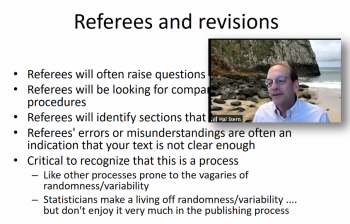 Hal Stern discusses the fine points of working with referees and responding to revision suggestions.