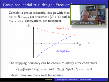 Christopher Jennison (Professor, Department of Mathematical Sciences, EPSRC Centre for Doctoral Training in Statistical Applied Mathematics (SAMBa), University of Bath)