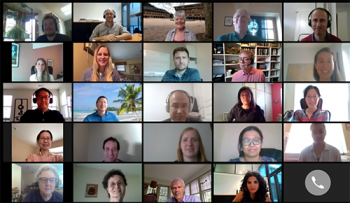 Screenshot sampling of the working group from Day 3: Estimands and Missing Data!