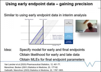 Nigel Stallard, (Warwick Medical School) explains Using short term endpoint data in interrupted clinical trials.