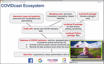 Roni Rosenfeld (Carnegie Mellon) reviews the components that make up the COVIDcast ecosystem.