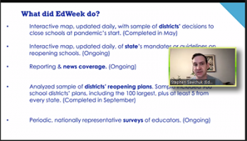 Stephen Sawchuk (Education Week) reviews that work that his publication has been involved in.
