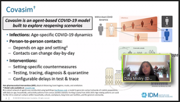 Dina Mistry (IDM) provides an overview of their model called Covasim.