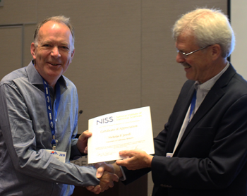 Nick Jewell recognized for his ten years of participation in this workshop!