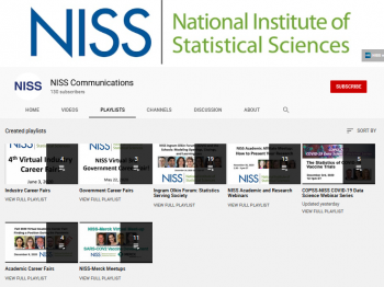NISS Communications YouTube Channel Playlists