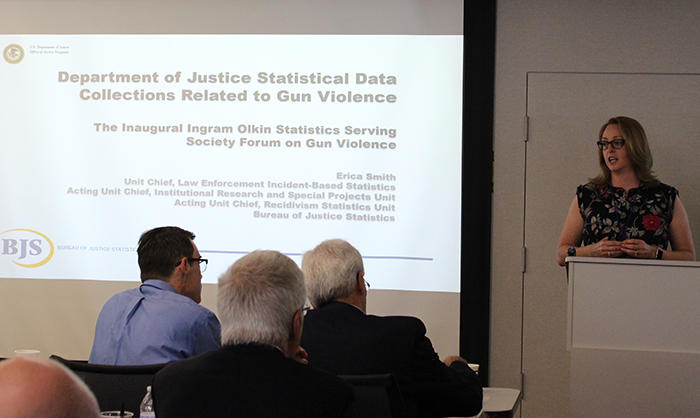 "Erica L Smith, (Bureau of Justice Statistics, U.S. Department of Justice) - ""Department of Justice Statistical Data Collections Related to Gun Violence""."