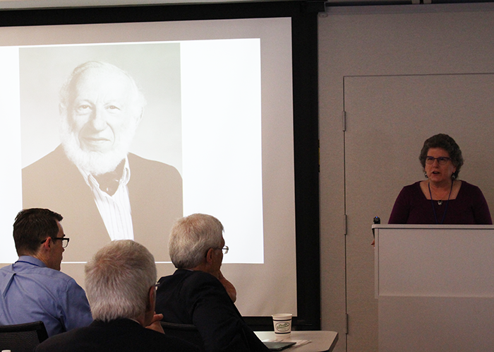 Julia Olkin, Professor, Department of Mathematics, California State University, East Bay, talks about her father