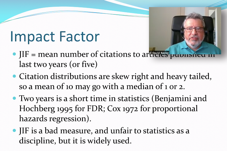 David Rocke provides advice about publication in statistics journals.