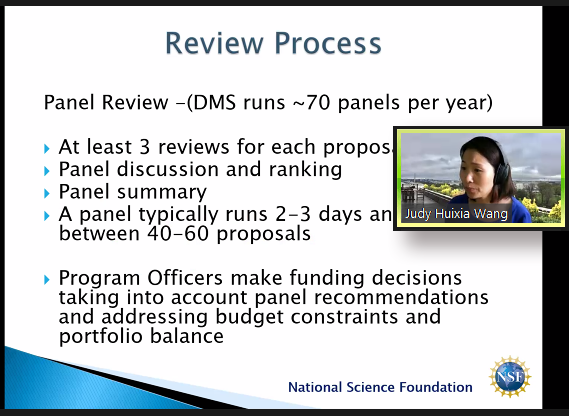 Judy Wang shares advice about NSF grants.