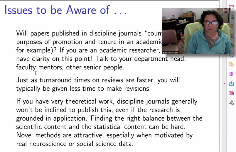Nicole Lazar talks about writing for statistics journals.