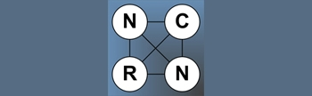 NCRN logo on blue grey background