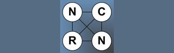 NCRN logo on blue grey background